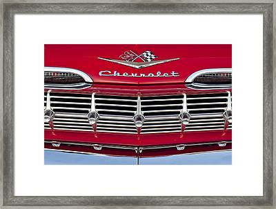 1959 Chevrolet Grille Ornament Framed Print