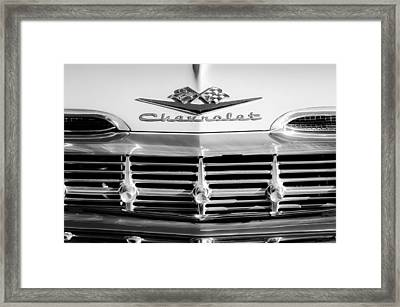1959 Chevrolet Impala Grille Emblem Framed Print by Jill Reger