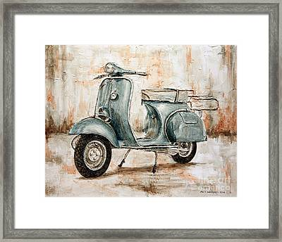 1959 Douglas Vespa Framed Print