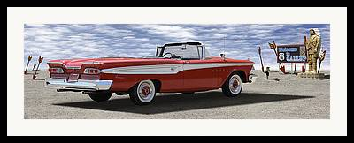 1959 Edsel Corsair Convertible Framed Prints