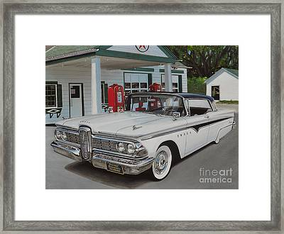 1959 Edsel Ranger Framed Print by Paul Kuras