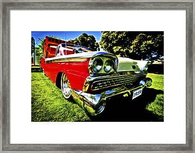 1959 Ford Fairlane 500 Skyliner Framed Print by motography aka Phil Clark