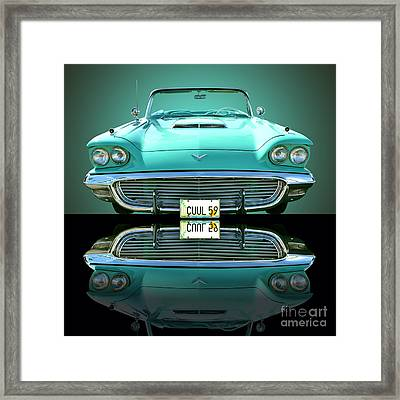 1959 Ford T Bird Framed Print by Jim Carrell
