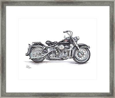 1959 Harley Davidson Panhead Framed Print by Shannon Watts