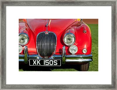 1959  Jaguar Xk150 Sots Grille Framed Print by Jill Reger