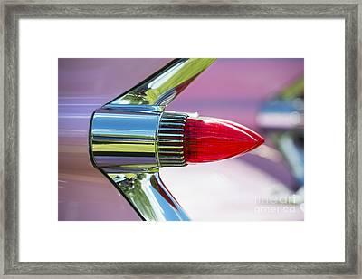 1959 Pink Cadillac Framed Print by Tim Gainey