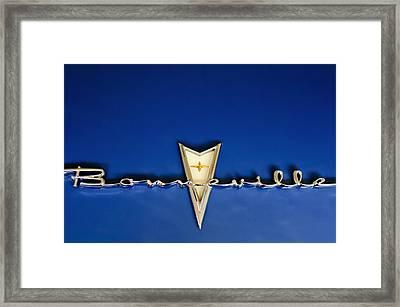 1959 Pontiac Bonneville Emblem Framed Print
