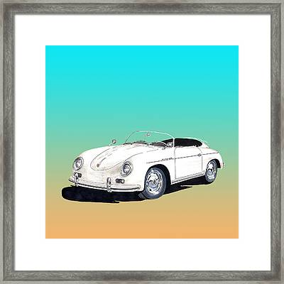 1959 Porsche Speedster Framed Print by Jack Pumphrey
