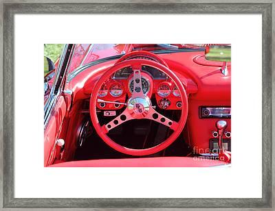 1959 Red Chevrolet Corvette 5d26479 Framed Print