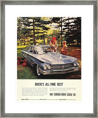 1960 - Buick Lesabre Sedan Advertisement - Color Framed Print