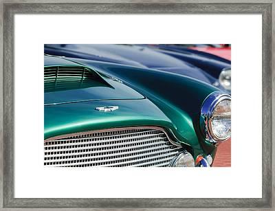 1960 Aston Martin Db4 Series II Grille - Hood Emblem Framed Print by Jill Reger