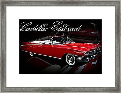 1960 Cadillac Convertible El Dorado  Framed Print