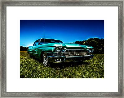 1960 Cadillac Coupe De Ville Framed Print by motography aka Phil Clark