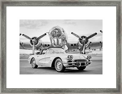 1960 Chevrolet Corvette - B-17 Bomber Framed Print