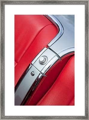 1960 Chevrolet Corvette Compartment Framed Print by Jill Reger