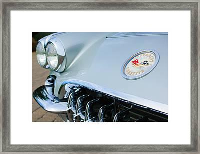 1960 Chevrolet Corvette Hood Emblem Framed Print