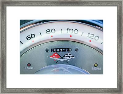 1960 Chevrolet Corvette Speedometer Framed Print by Jill Reger