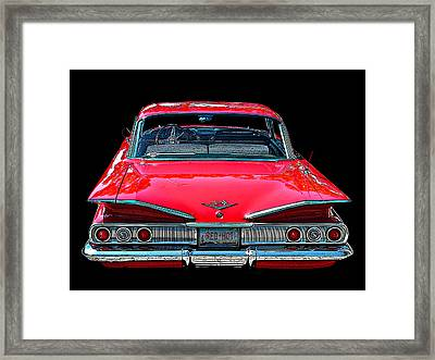 1960 Chevy Impala Rear View Framed Print