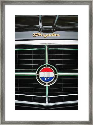 1960 Chrysler 300f Convertible Grille Emblem Framed Print by Jill Reger