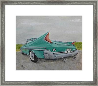 Framed Print featuring the painting 1960 Classic Saratoga Chrysler by Kelly Mills