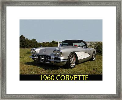 1960 Corvette Framed Print