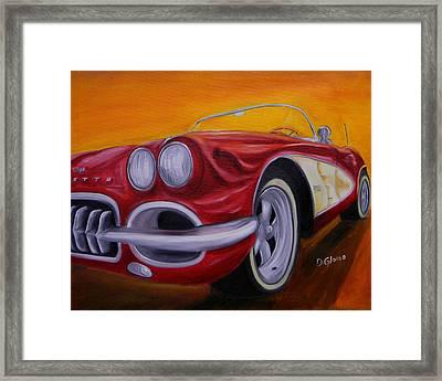 1960 Corvette - Red Framed Print