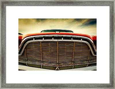 1960 Desoto Fireflite Coupe Grill Framed Print by Jon Woodhams