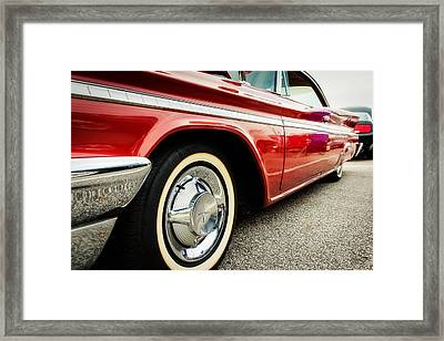 1960 Desoto Fireflite Coupe Low Side View Framed Print by Jon Woodhams