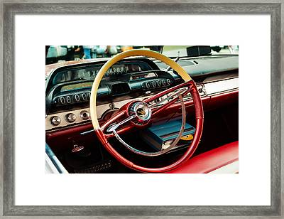 1960 Desoto Fireflite Coupe Steering Wheel And Dash Framed Print by Jon Woodhams