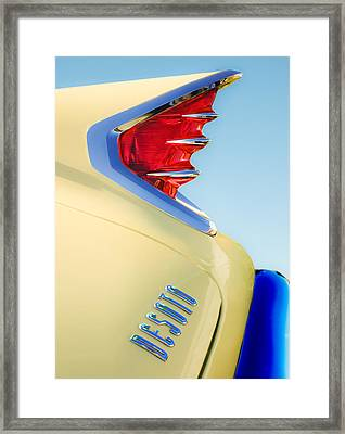 1960 Desoto Fireflite Two-door Hardtop Taillight Emblem Framed Print by Jill Reger