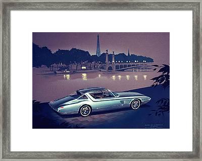 1960 Desoto  Vintage Styling Design Concept Painting Paris Framed Print by John Samsen