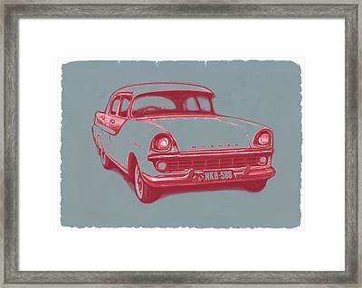 1960 Fb Holden Car Art Sketch Poster Framed Print