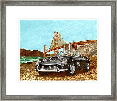 1960 Ferrari 250 California G T Framed Print by Jack Pumphrey