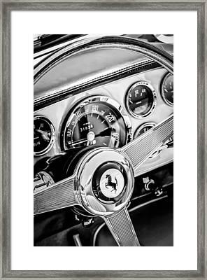 1960 Ferrari 250 Gt Cabriolet Pininfarina Series II Steering Wheel Emblem -1319bw Framed Print by Jill Reger