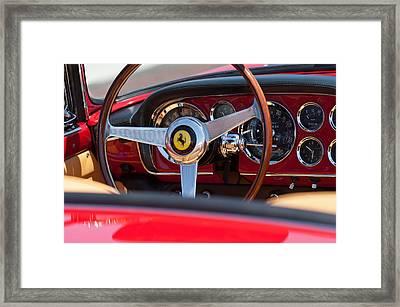 1960 Ferrari 250 Gt Cabriolet Pininfarina Series II Steering Wheel Emblem Framed Print by Jill Reger