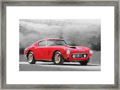 1960 Ferrari 250 Gt Swb Watercolor Framed Print