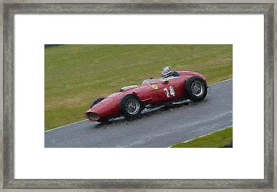 1960 Ferrari Dino Racing Car Framed Print by John Colley