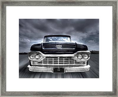 1960 Ford F100 Pick Up Head On Framed Print by Gill Billington