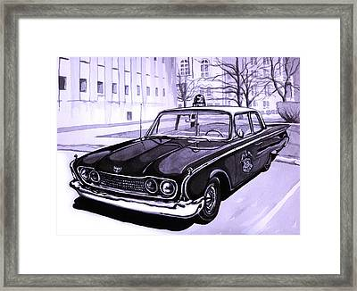 1960 Ford Fairlane Police Car Framed Print by Neil Garrison