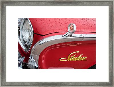 1960 Ford Galaxie Starliner Hood Ornament - Emblem Framed Print by Jill Reger