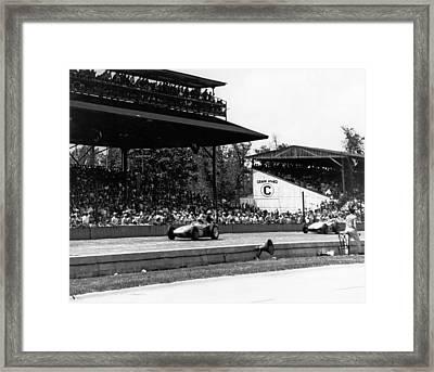 1960 Indy 500 Race Framed Print