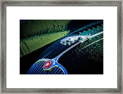 1960 Jaguar Xk 150s Fhc Hood Ornament -0441c Framed Print