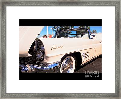 1960 Lincoln Continental Convertible Framed Print
