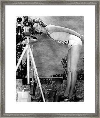 1960 Miss Universe Contestant Framed Print by Retro Images Archive