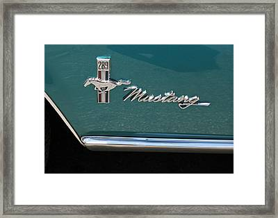 1960 Mustang  Framed Print by Suzanne Gaff
