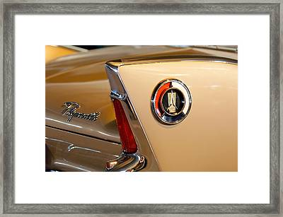 1960 Plymouth Fury Convertible Taillight And Emblem Framed Print