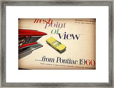 1960 Pontiac Matchbox Cover Car Framed Print