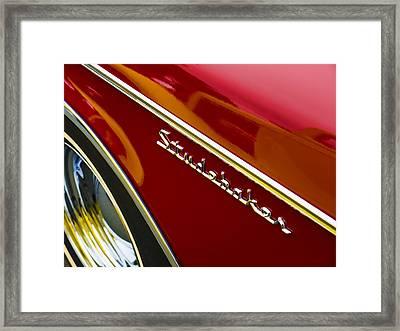 1960 Studebaker Hawk Framed Print by Carol Leigh