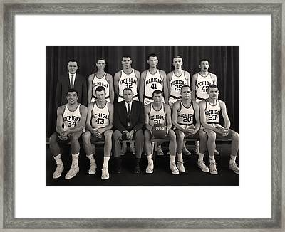 1960 University Of Michigan Basketball Team Photo Framed Print by Mountain Dreams
