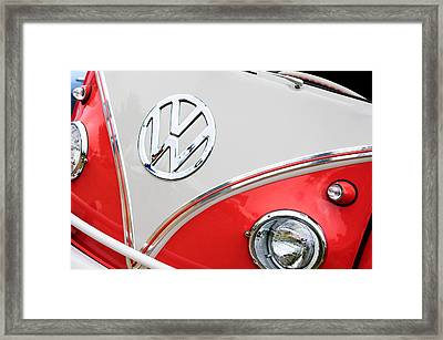 1960 Volkswagen Vw 23 Window Microbus Emblem Framed Print